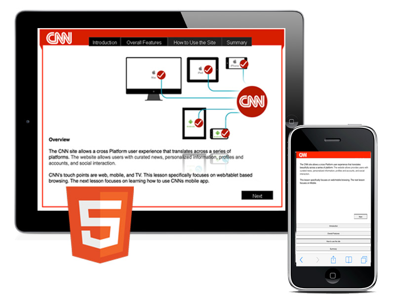 CNN Web-Based Training/ (HTML5) + responsive version
