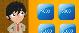 AT&T Jeopardy Review Flash Game