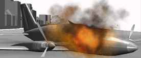 3d Simulated Plane Crash